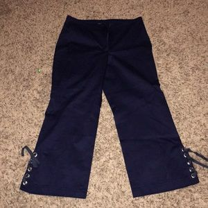 Dark blue cropped pants
